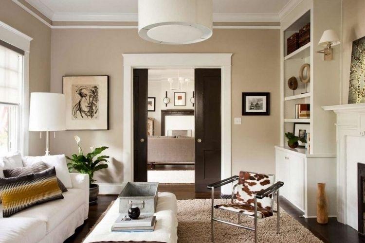 feng-shui-wohnzimmer-einrichten-weiss-creme-teppich-pflanze-couch - feng shui wohnzimmer