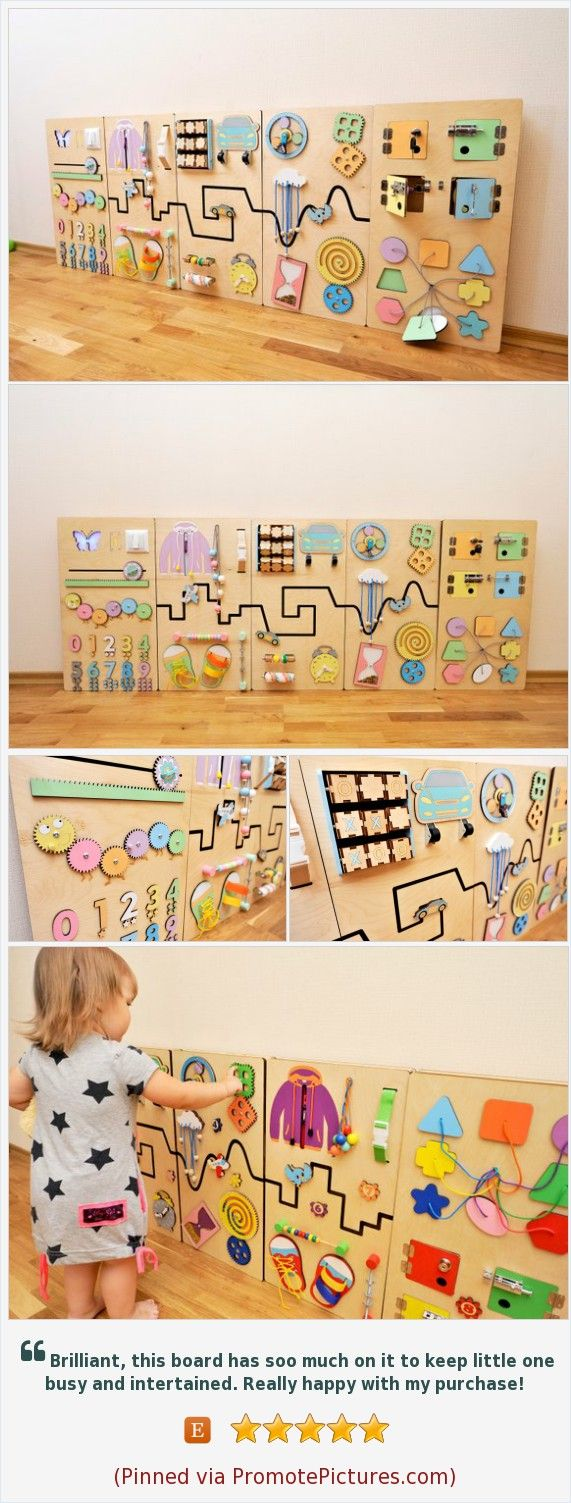 Sensory wall panel in pastel colors Montessori busy board Gift for kids Wall decor Activity wall in learning montessori room Special Needs