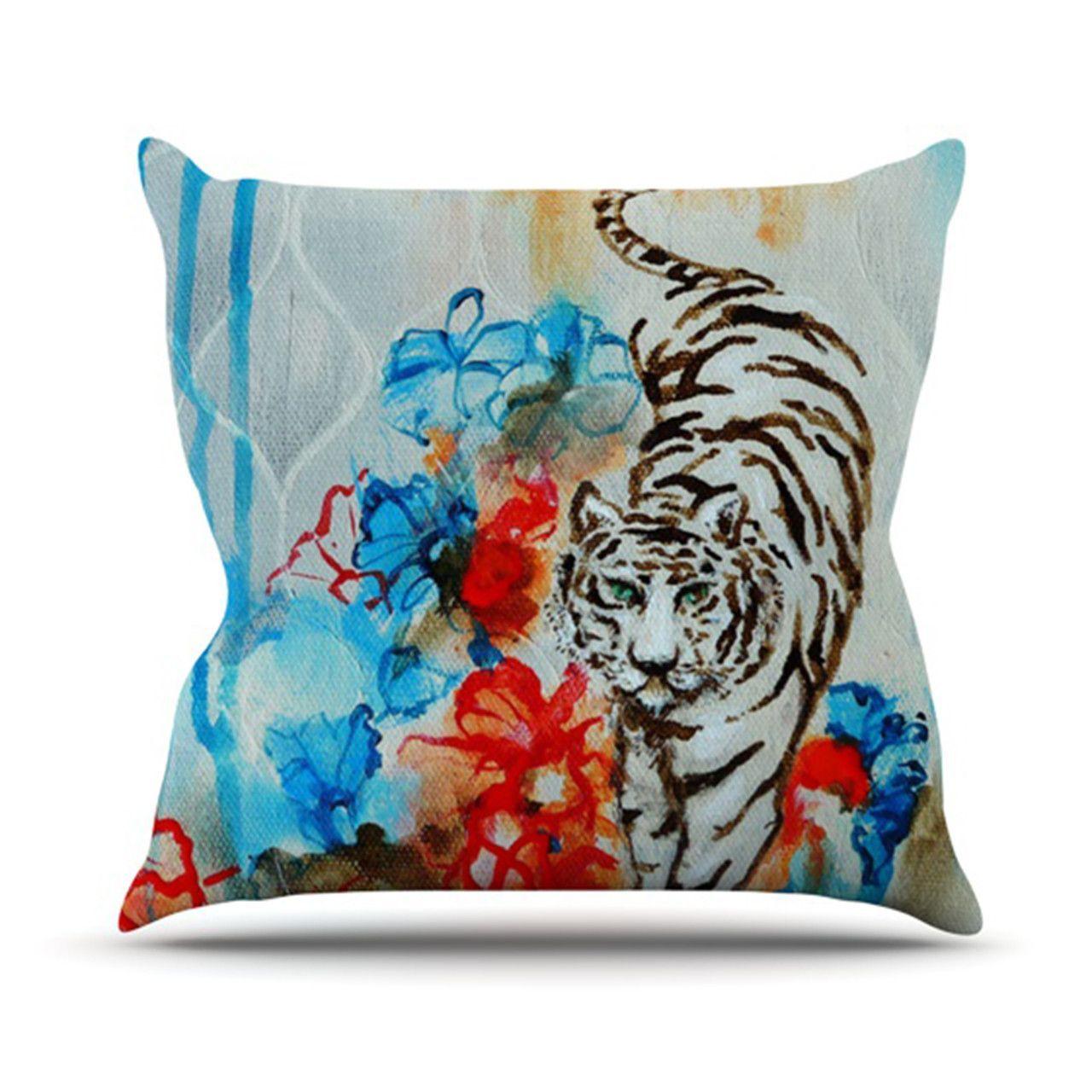 Tiger Outdoor Throw Pillow