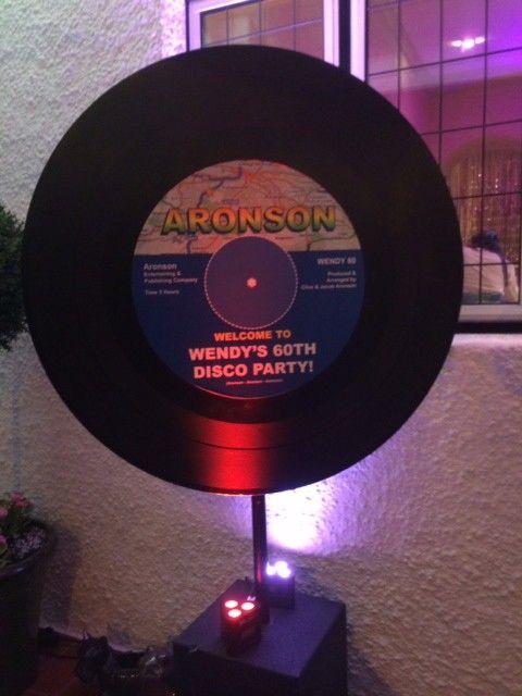Giant Vinyl Record Cutout Blue Label Vinyl Records