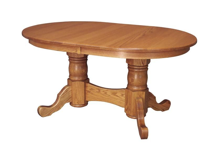 Amish Custom Double Pedestal Dining Table Muebles Mesas Comedores