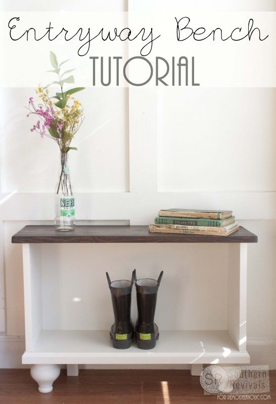 Create A Shoe Storage Bench To Sit Under The Coat Hooks From Remodelaholic