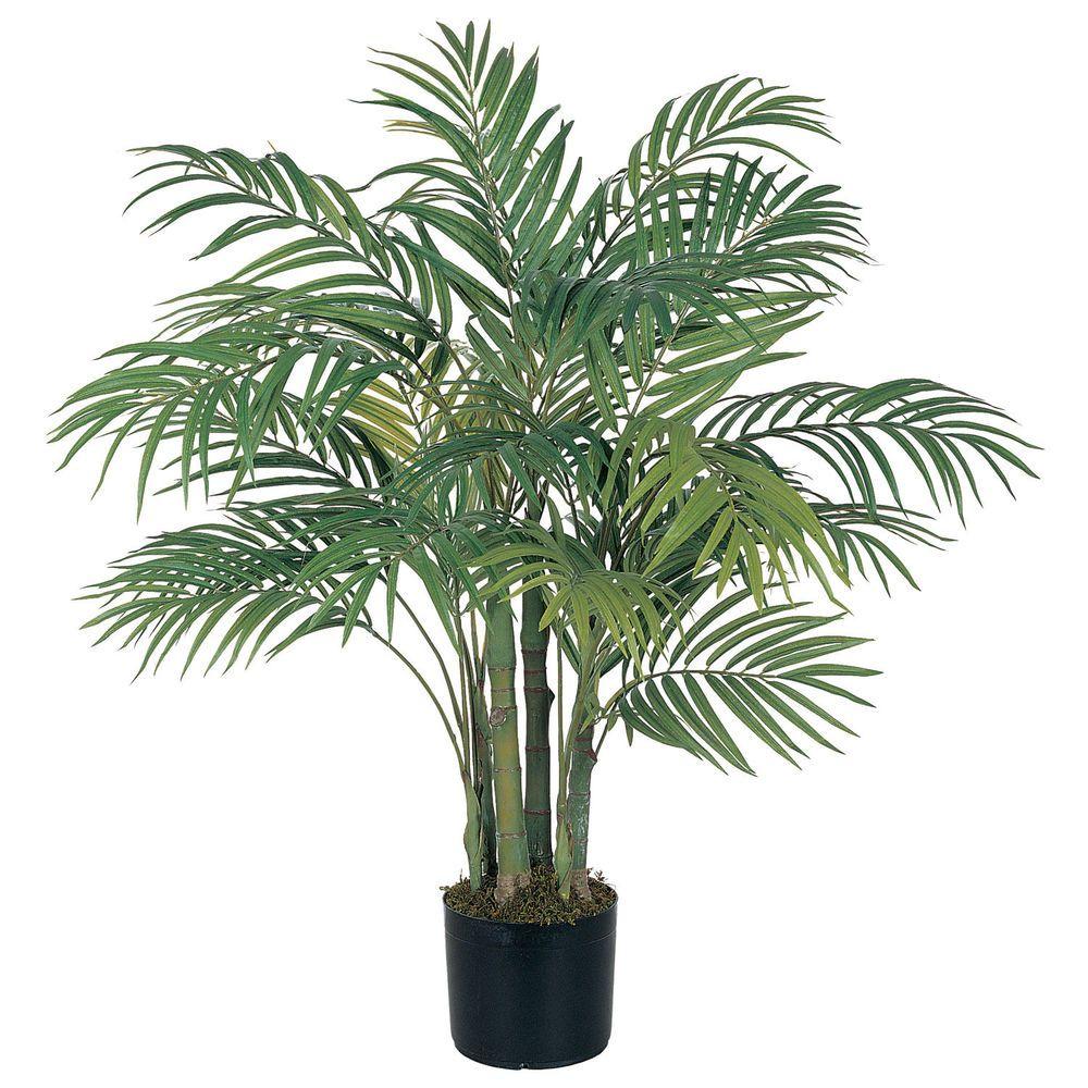 3 Ft Silk Artificial Areca Palm Tree Tropical Fake Plant 400 x 300