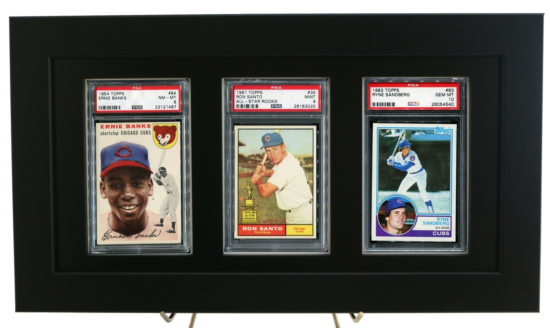Sports Card Frame For 3 Psa Graded Cards Black Design Diy