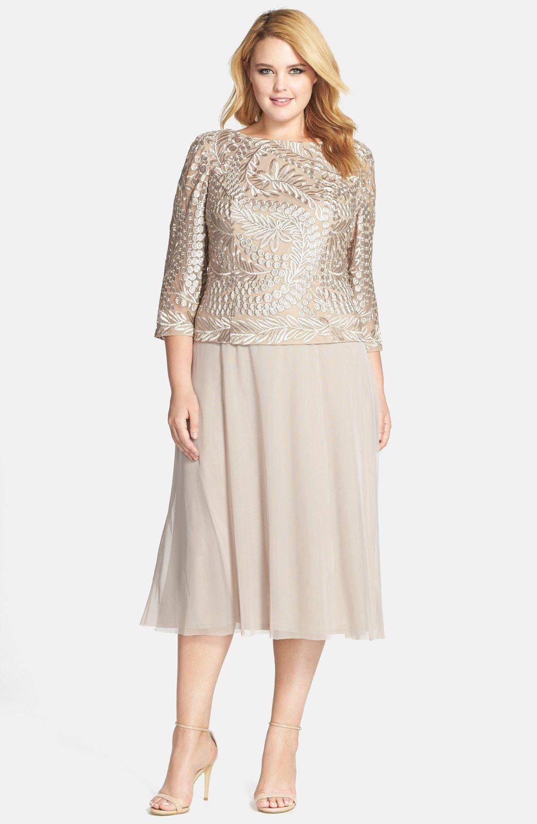 tea length formal dresses plus size images - dresses design ideas