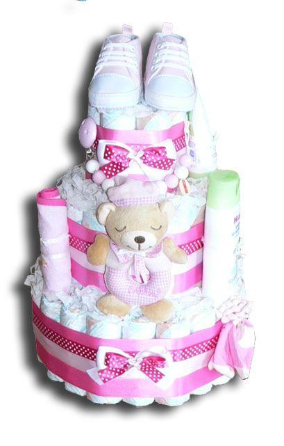m dchen windeltorte als geschenk zur geburt windeltorten pinterest babies baby party and. Black Bedroom Furniture Sets. Home Design Ideas