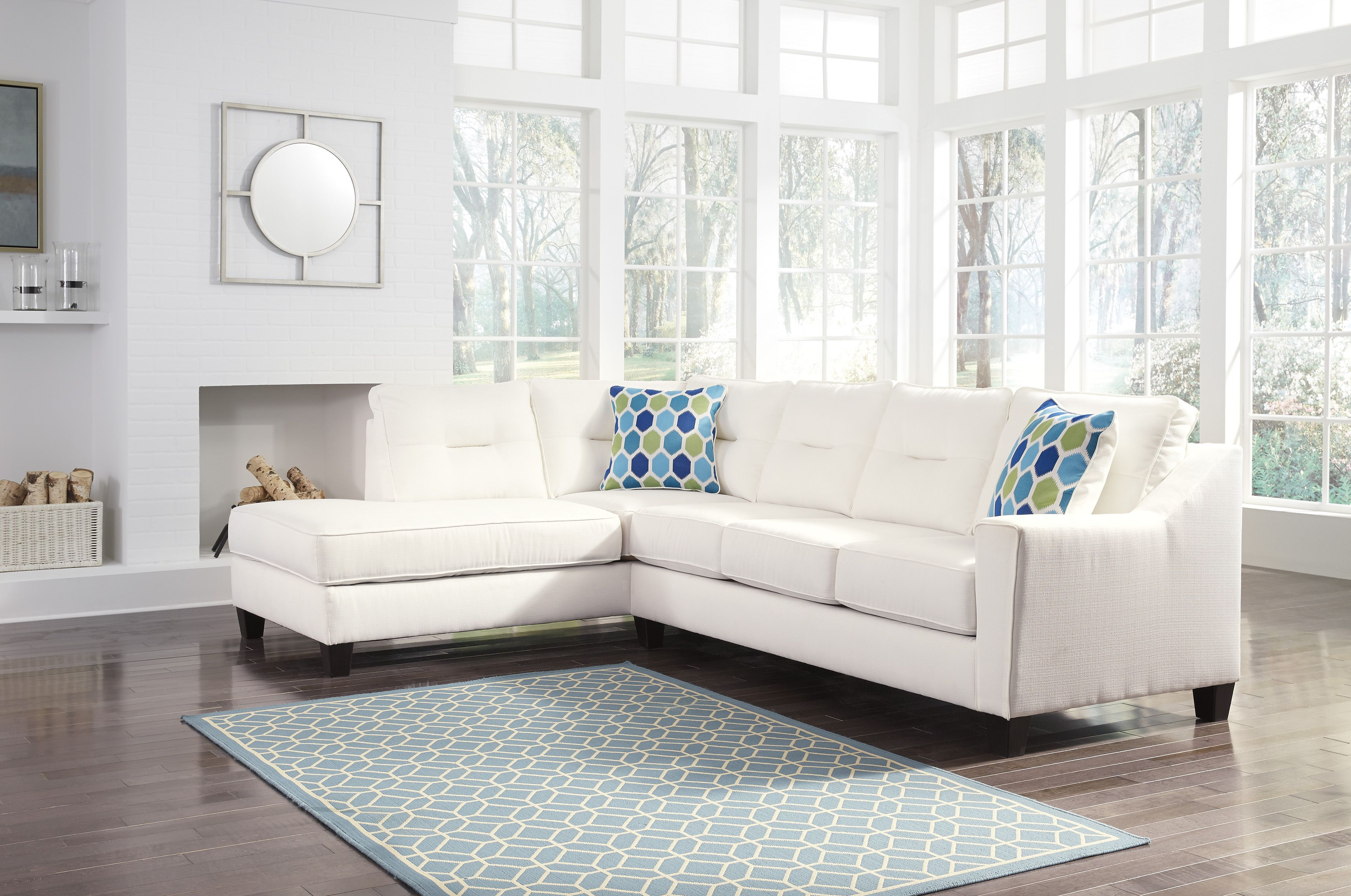 Marvelous Kirwin White Nuvella 99604 16 By Ashley Sectional Sofa Home Interior And Landscaping Palasignezvosmurscom