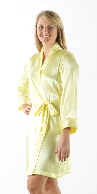 Amazing robes! Kimono Style Plain Robe (Yellow)  a58710a0f