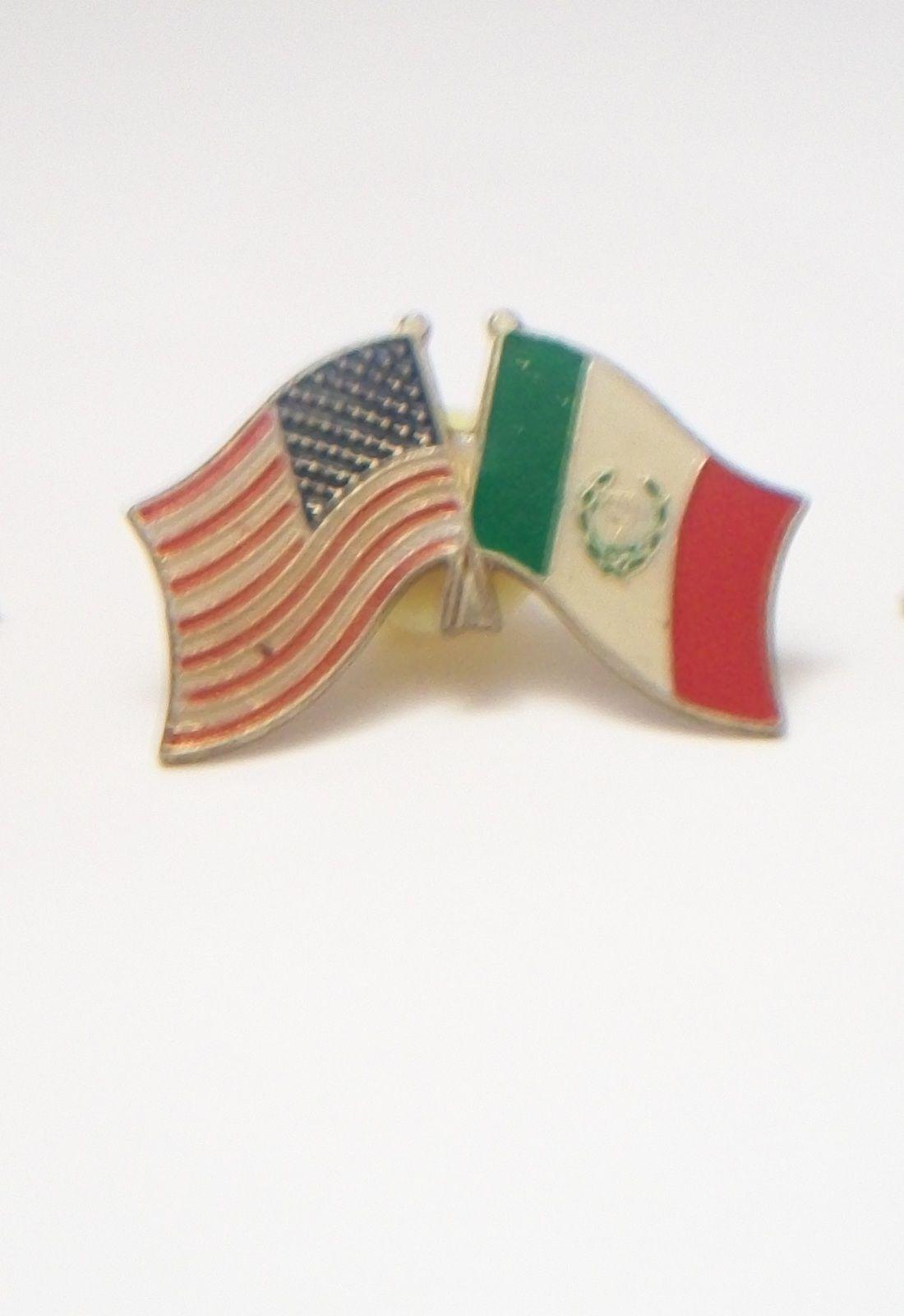 Vintage American Mexican Flag Tie Tack Pin Mexican Flags Mexican American Flag American Vintage