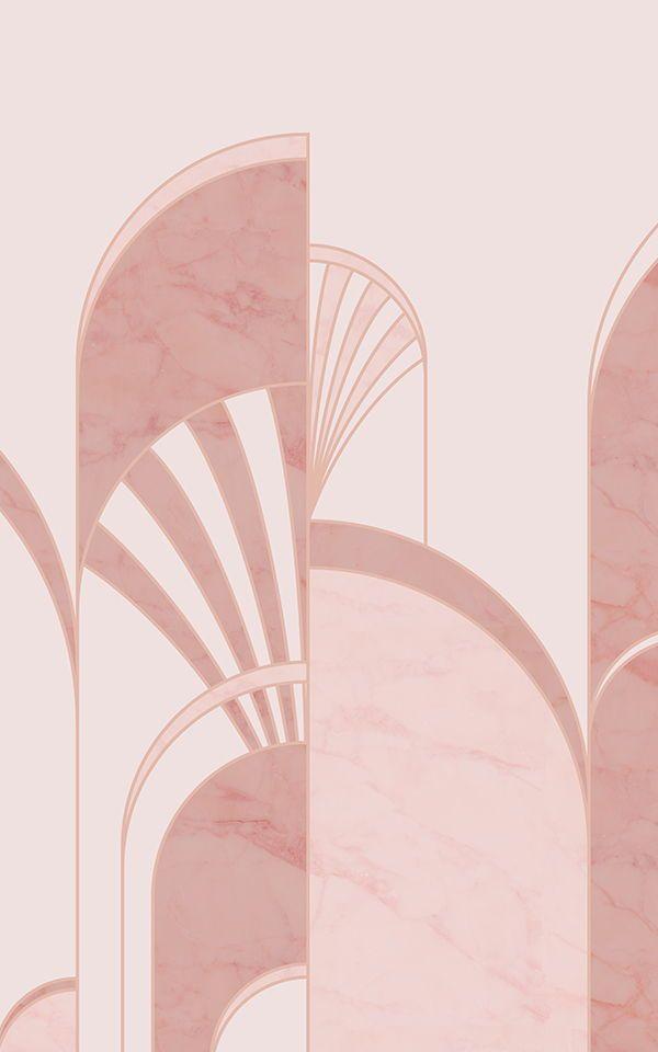 Pink Art Deco Pattern Wallpaper | Gatsby Inspired | MuralsWallpaper