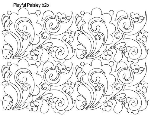 playful paisley could be used as a negative space word background - free word background templates