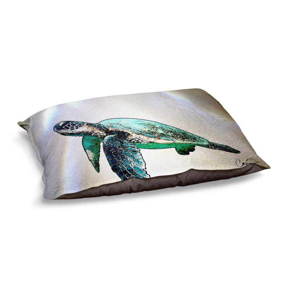 Sea Turtle 2 Dog Bed by Artist Corina Bakke by CorinaGallery on Etsy
