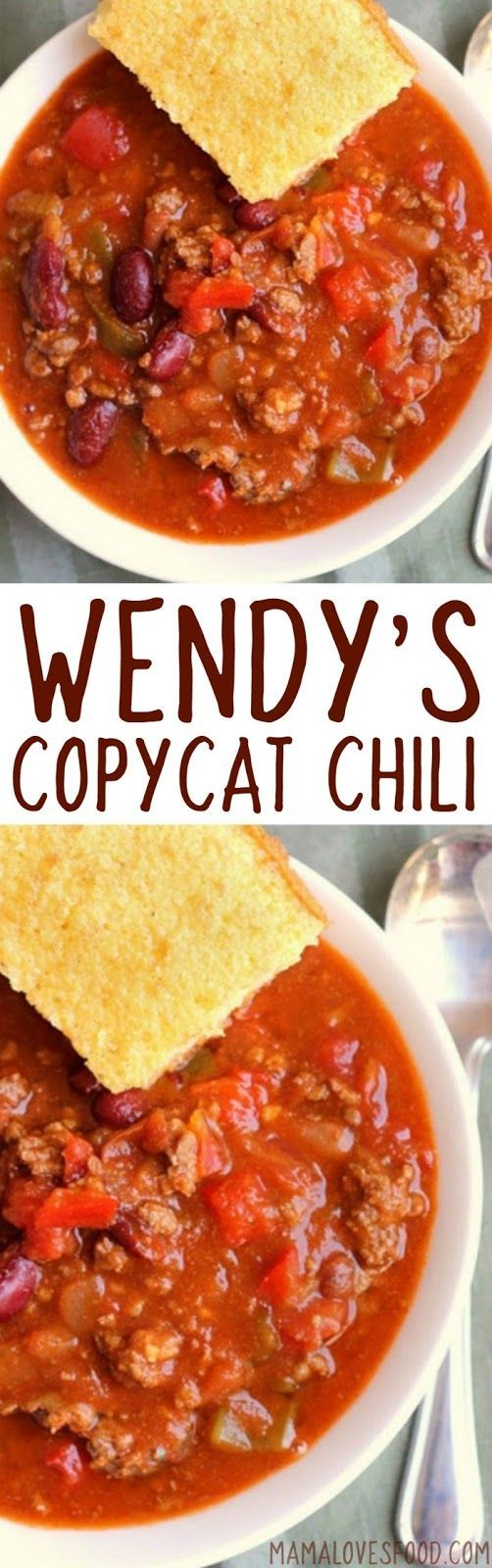 Tasted Just Like The Real Thing Wendy S Chili Copycat Recipe How To Make Wendy S Style Chili At Home Recipes Wendys Chili Recipe Mexican Food Recipes