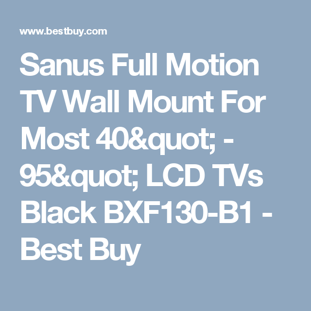 sanus full motion tv wall mount for most 40 95 lcd tvs black - Sanus Full Motion Tv Wandhalterung