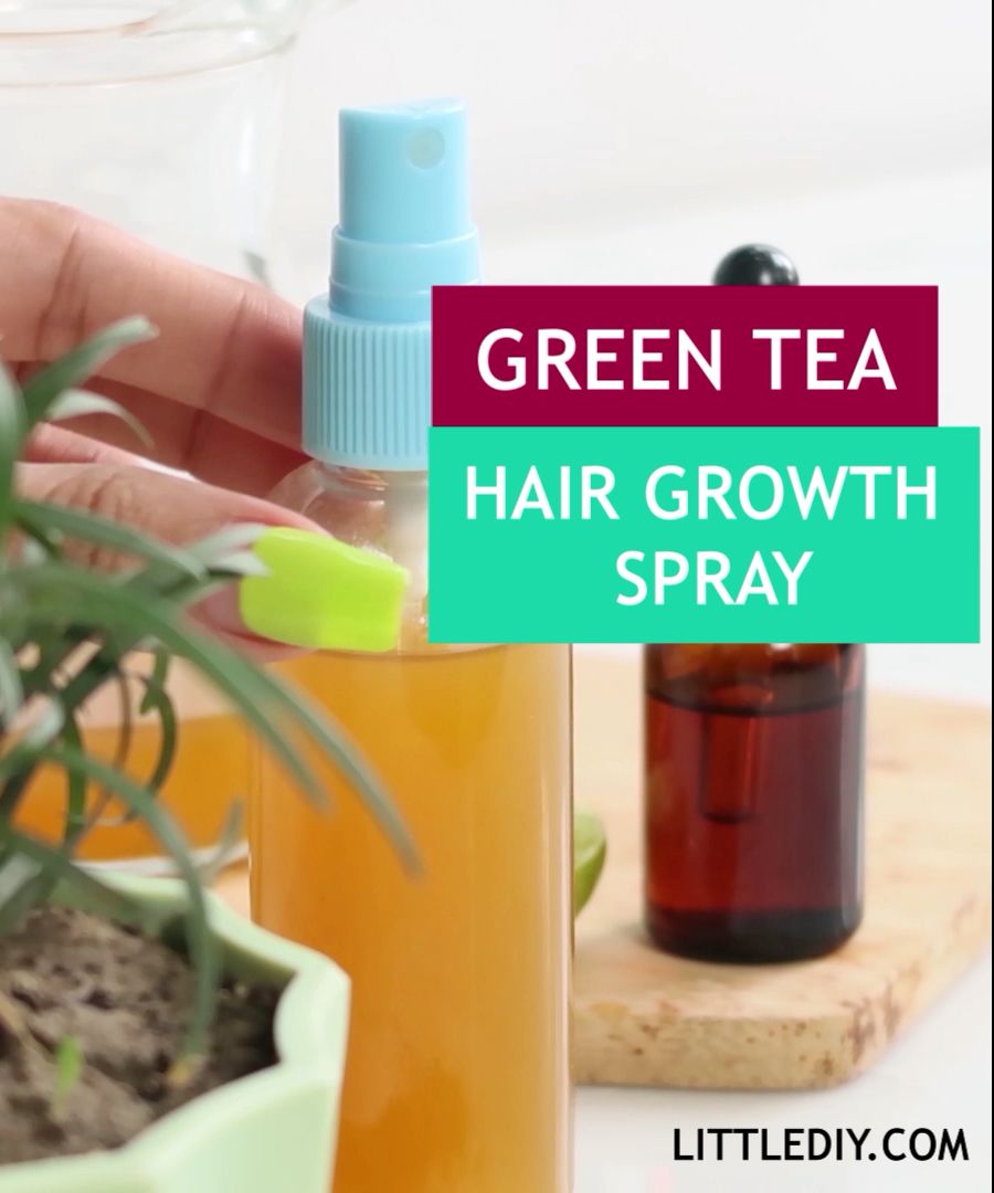 Green tea hair growth spray