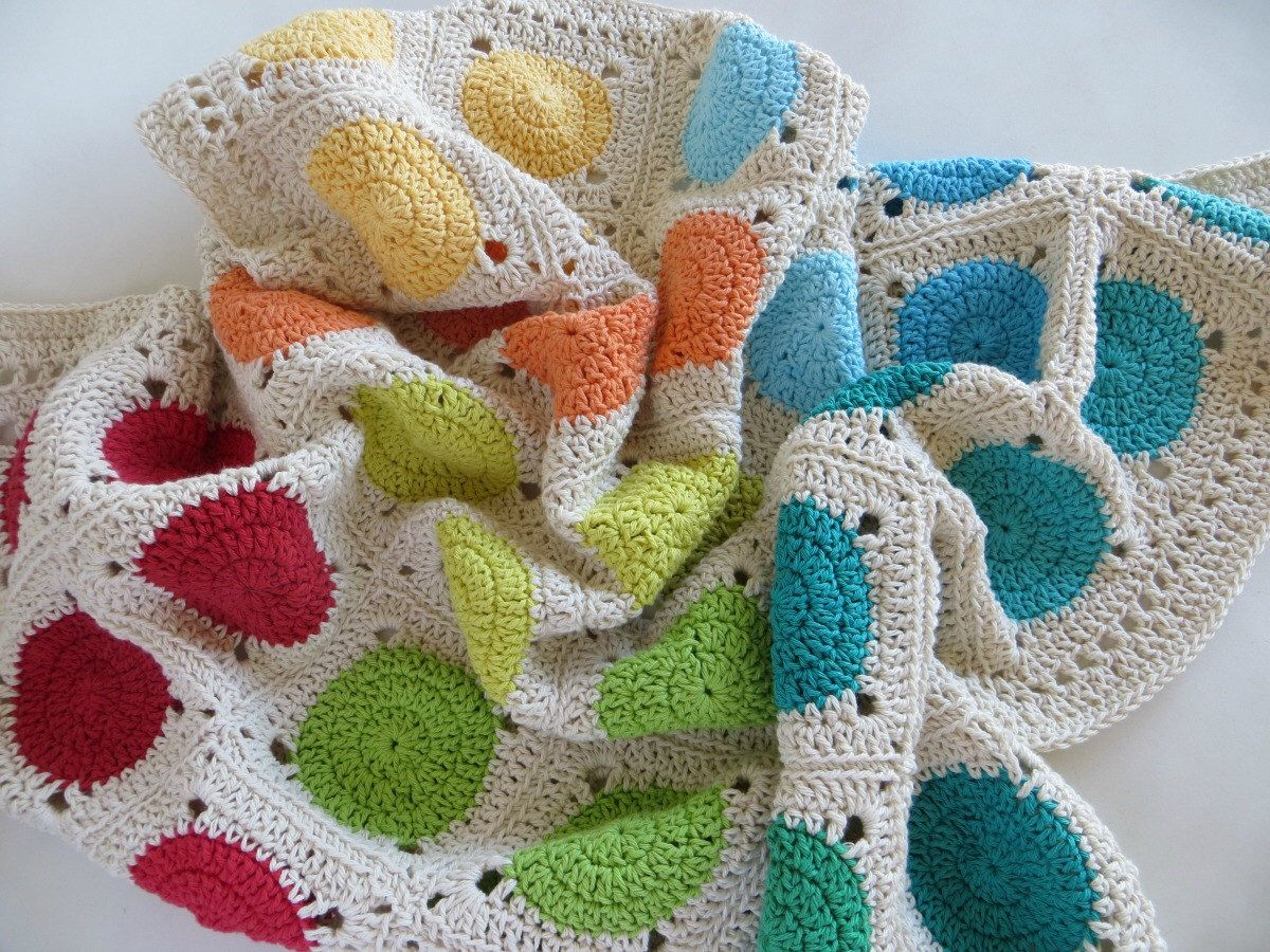 Manta tejida al crochet ganchillo manta de bebe - Manta de bebe a ganchillo ...