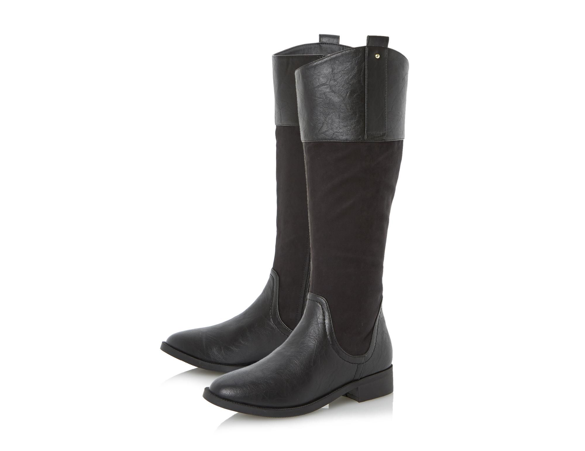 039545fbae0 Head Over Heels Ladies TILLY - Angled Collar Riding Boot - black ...