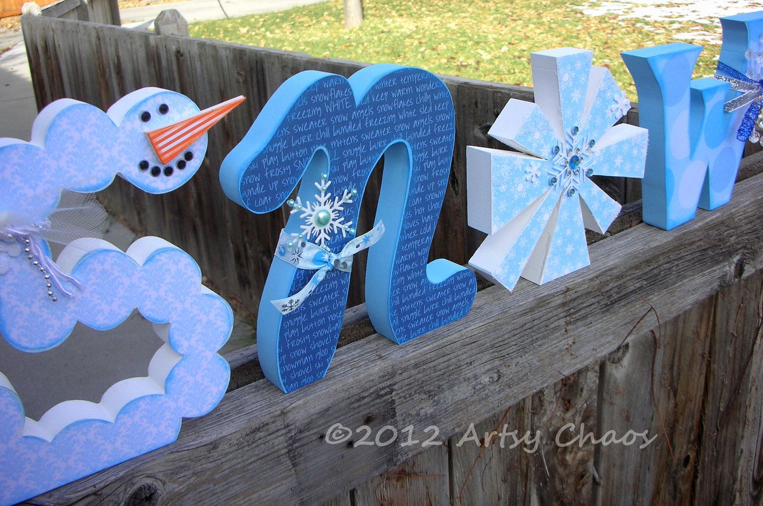 Unfinished Wood Snow Letters Winter Decor Designed By Me