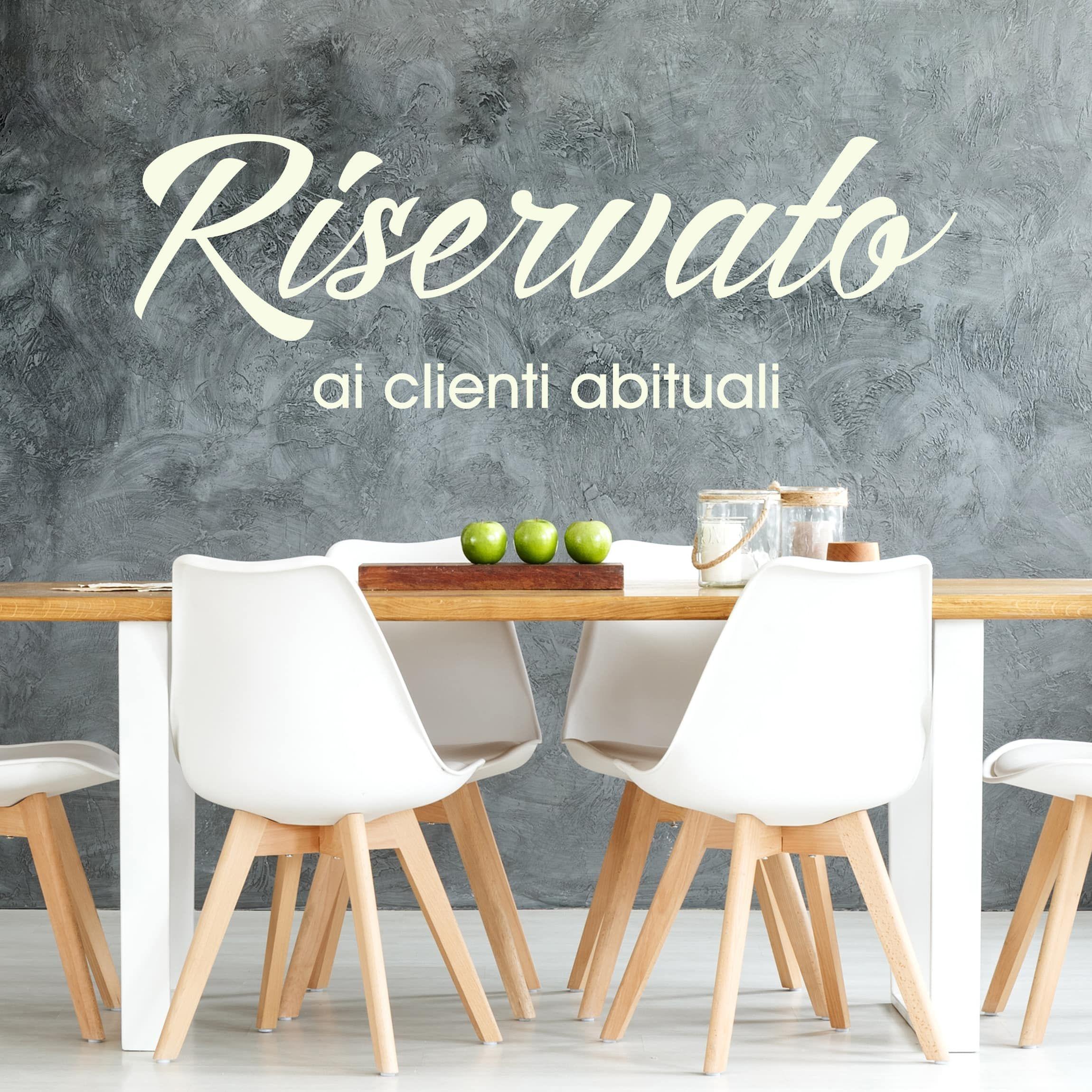 Adesivi Parete Cucina.Adesivo Murale No Sf690 Tavolo Riservato Cucina Dei Sogni