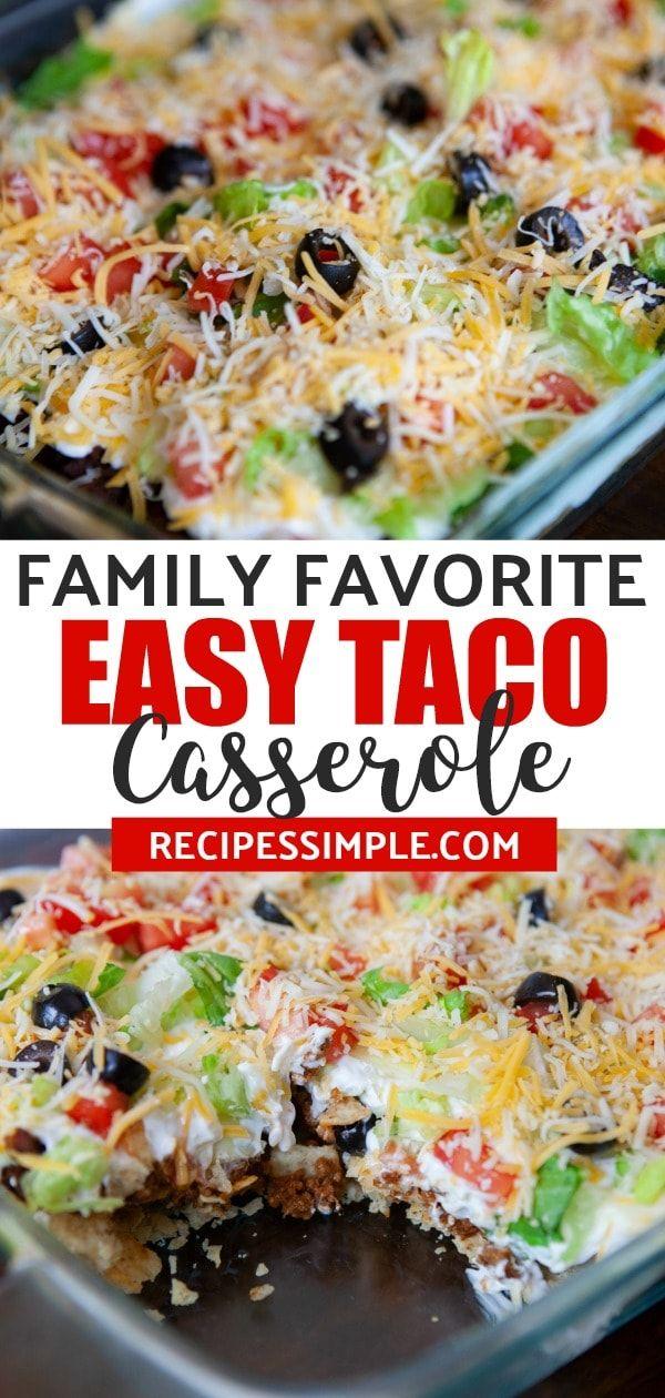 Easy Taco Casserole #favourites