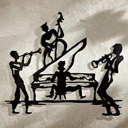 Jazz Band Iron Wall Sculpture Jazz Art Silhouette Art Music Artwork