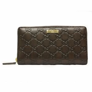 05ad73b821d Gucci 307980 Guccissima Brown Leather Continental Zip Around Wallet ...