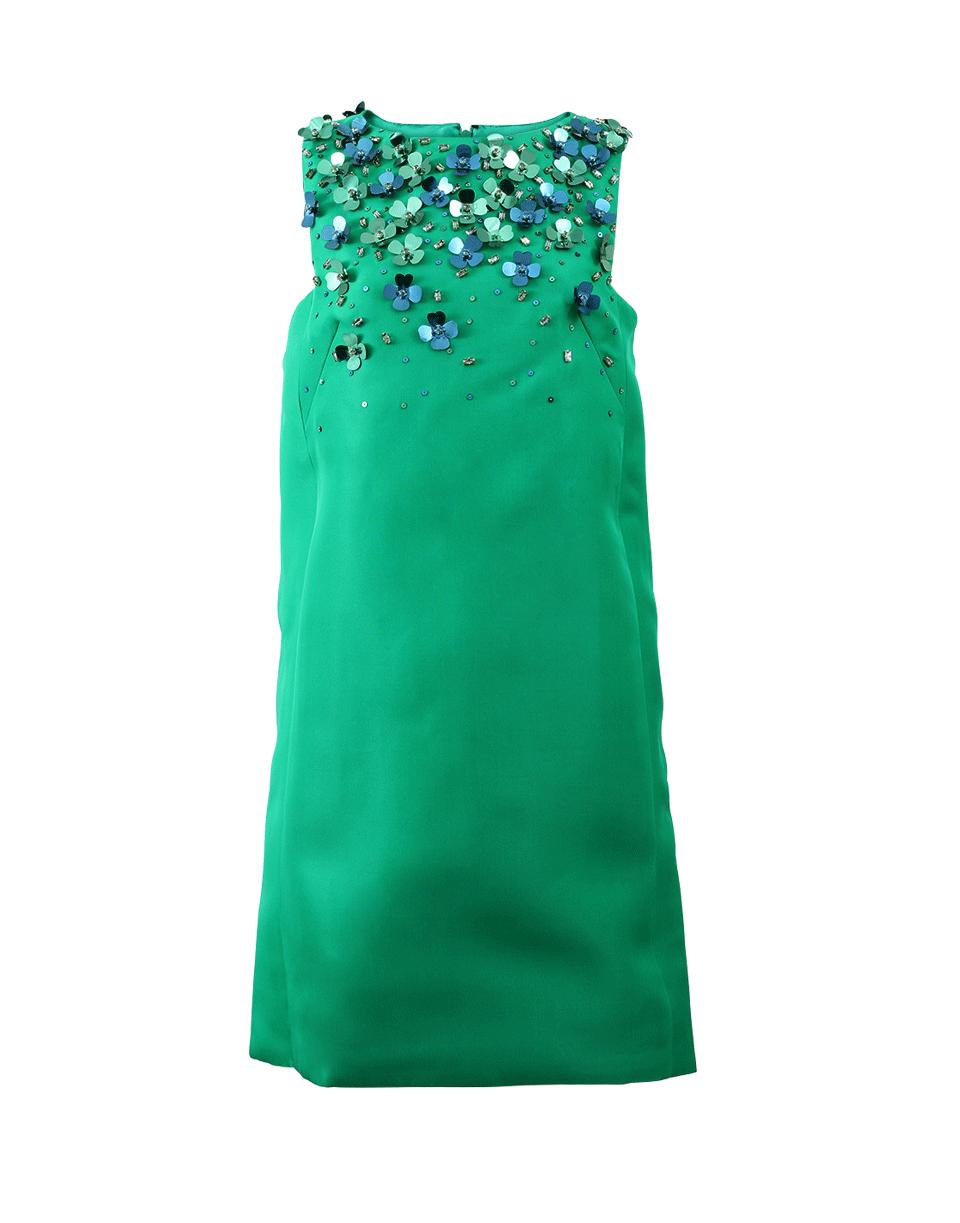 MONIQUE LHUILLIER Shift Dress With Floral Sequins. #moniquelhuillier #cloth #sequins