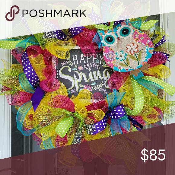 Owl Wreath Gorgeous Spring Owl Wreath Deco Mesh And