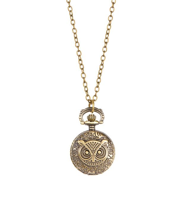Look at this brass owl clock pendant necklace on zulily today look at this brass owl clock pendant necklace on zulily today mozeypictures Images