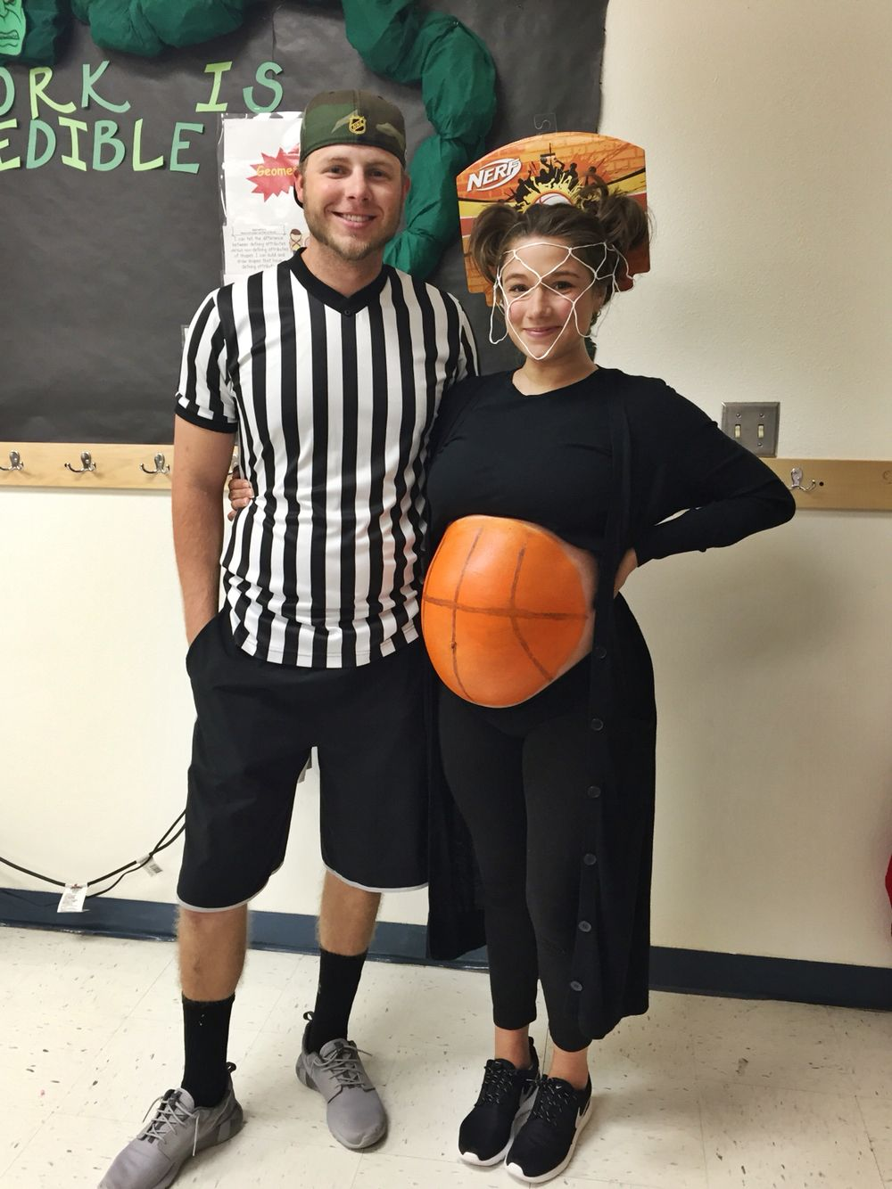 Couples maternity halloween costume basketball  sc 1 st  Pinterest & Couples maternity halloween costume basketball | holiday. celebrate ...