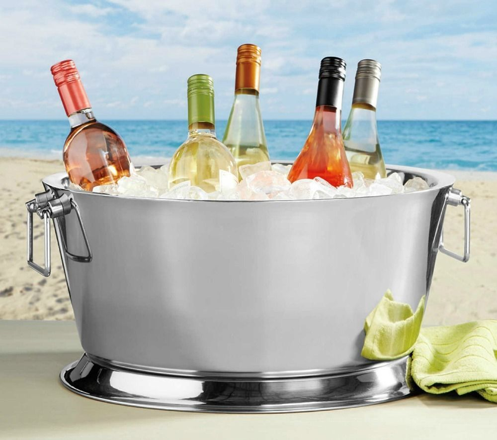 Large Beverage Tub Party Ice Bucket Stainless Steel