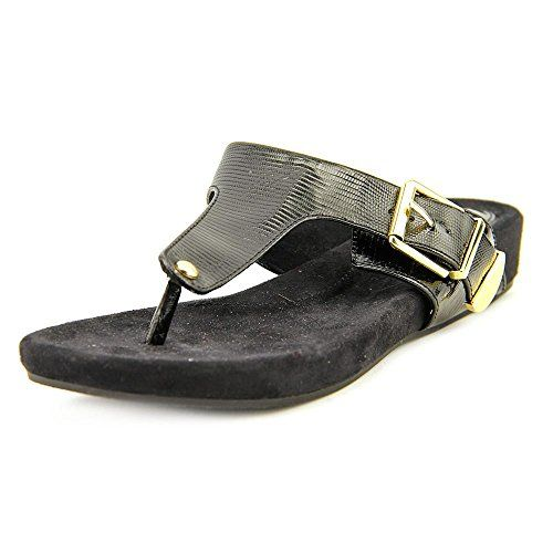 c91e0d3a2 Giani Bernini Womens Ryanne Thong Sandals Black Size 80     You can get  more details by clicking on the image.
