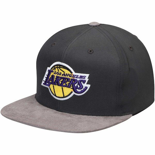 competitive price 09116 3e346 Men s Los Angeles Lakers Mitchell   Ness Gray Hardwood Classic Buttery  Snapback Adjustable Hat, Your