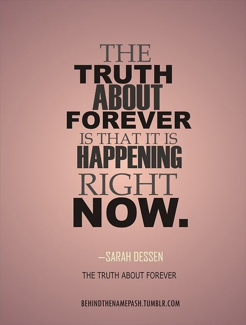 The Truth About Forever By Sarah Dessen Im Re Reading This For The