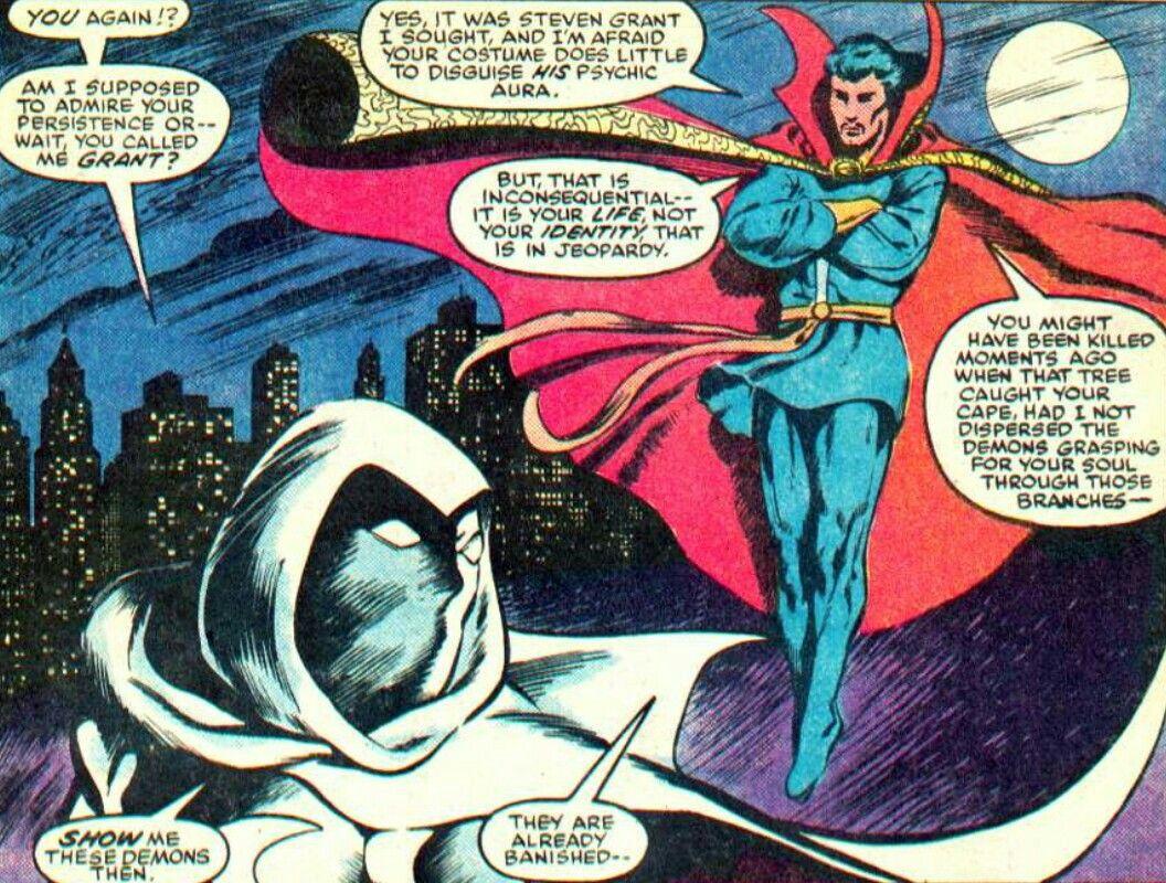 Resultado de imagen para moon knight doctor strange