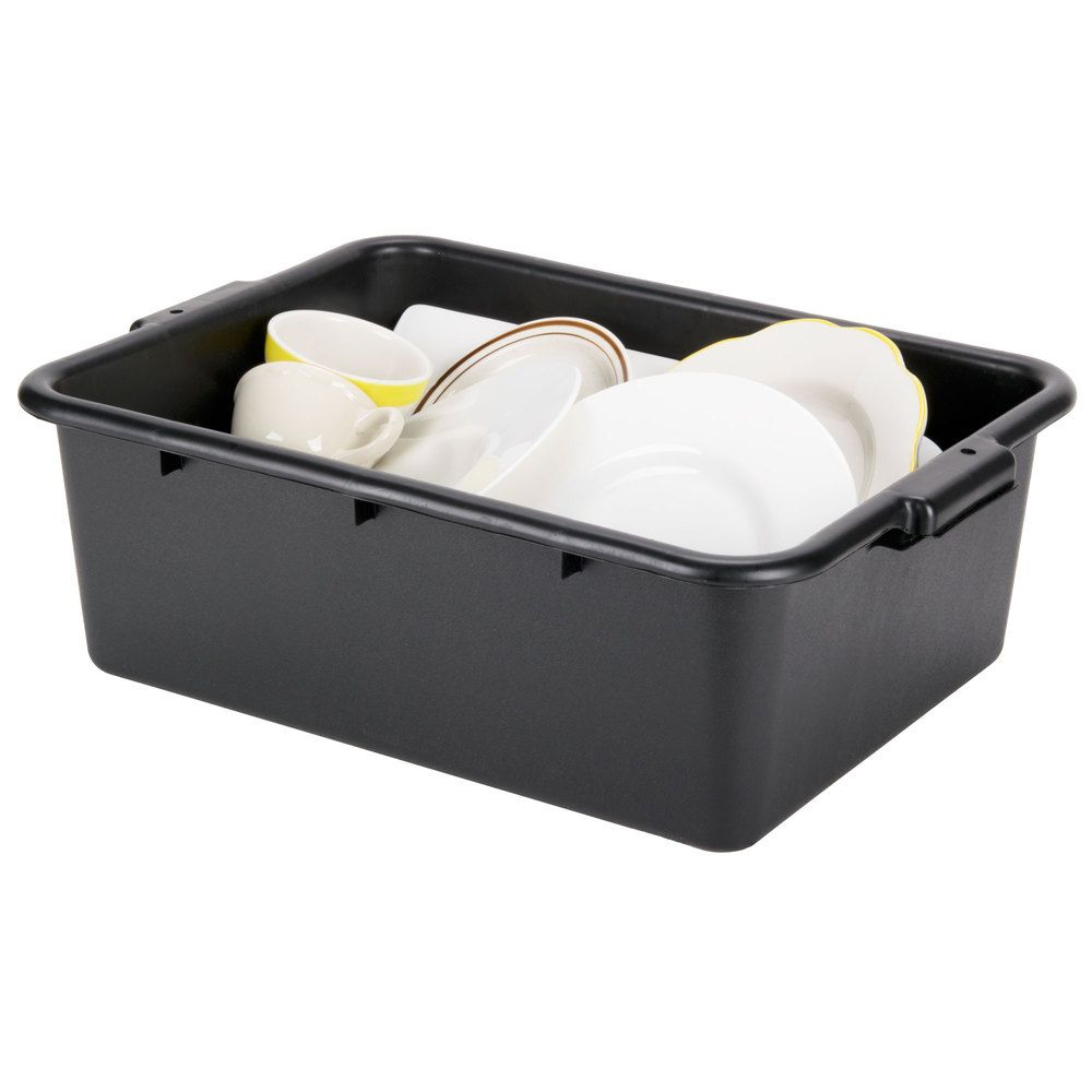 polyethylene boxes x and duty pans plastic tubs gray inch box bus heavy tub webstaurantstore tablecraft