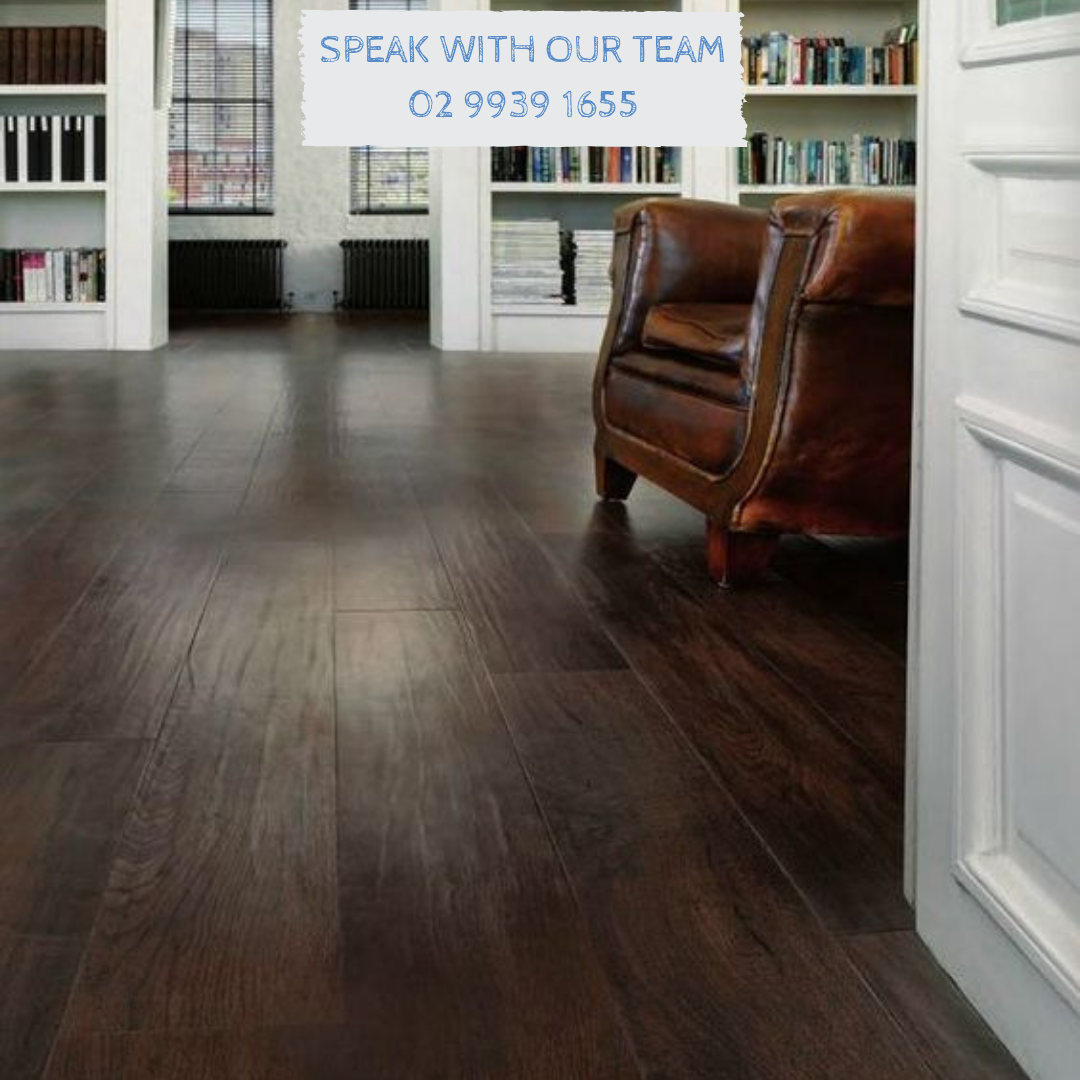 Classic dark stained wood timber flooring can make any