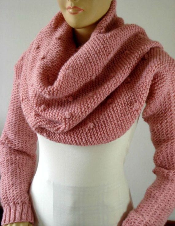 KNITTING PATTERN Scarf with Sleeves Celine Scarf with | 2 en 1 ...