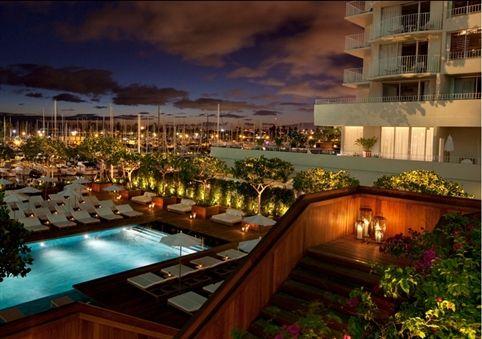 The Modern Honolulu Sunrise Pool Deck With Harbor Views Hotels And Resortstop
