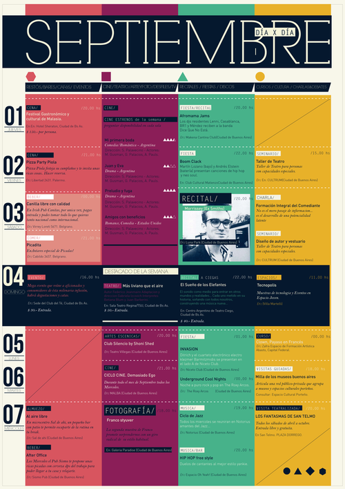 very nice approach to schedule design savouring life intensely