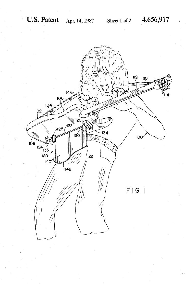 Patent Us4656917 Musical Instrument Support Google Patents With Images Eddie Van Halen Van Halen Van Halen 5150