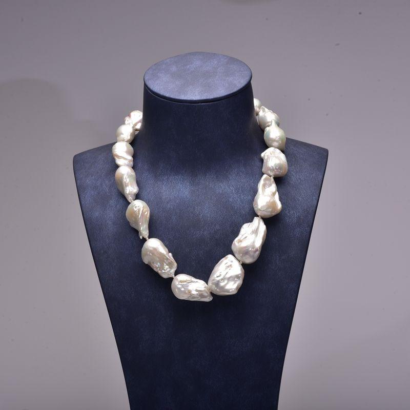 85ca1562bb6e5 YS] Baroque Pearl Jewelry Big Size Natural Cultured Baroque ...
