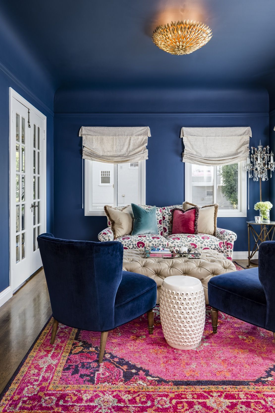 Eclectic Living Room With Bold Primary Colors Breakfast Room
