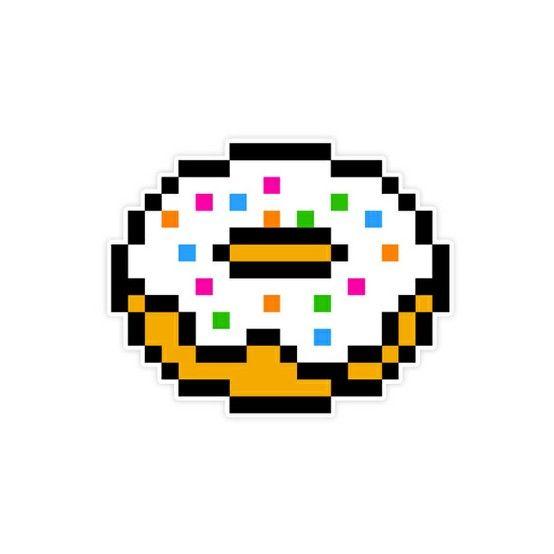 Donut Perler Pyssla 8 Bit Pixel Art Templates Pixel Art