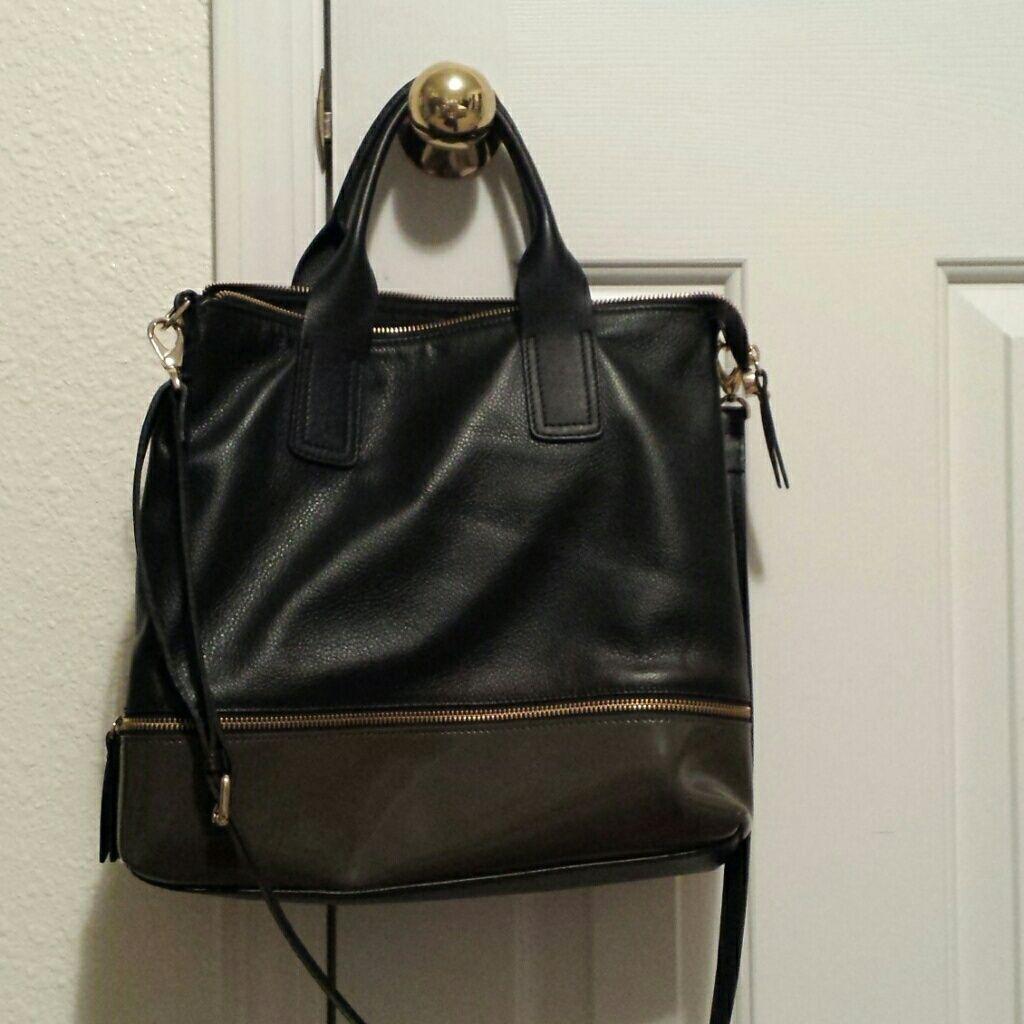 3db2b8af9c Amber Rose Bkack Leather Handbag