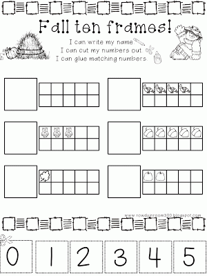 10 frames activities: FREE fall-themed 10 frames worksheet. | 10 ...