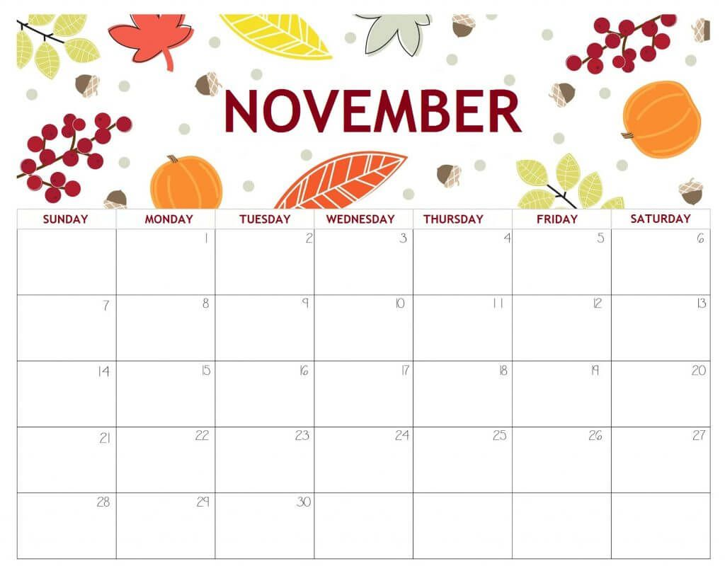 20+ November 2021 Calendar - Free Download Printable ...