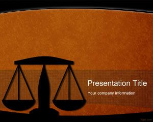 Free Legal Powerpoint Template Background For Law And