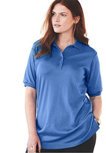 cc7a407b5d4e Womens Plus Size Top Tunic Length Generous Fit Polo Ultramarine4X -- Read  more at the image link.Note:It is affiliate link to Amazon.
