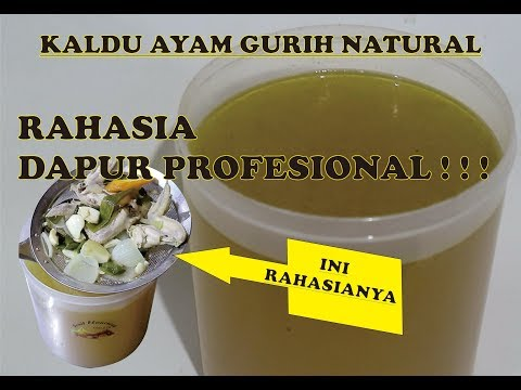 Cara Membuat Kaldu Ayam Gurih Natural How To Make The Real Chicken Stock Youtube Kaldu Resep Makanan Asia Resep Minuman